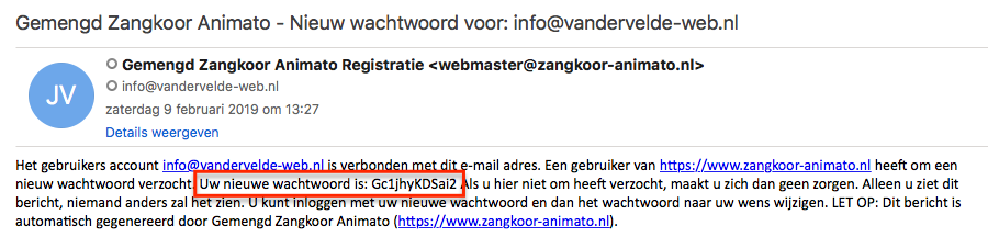 cb mail wachtwoord
